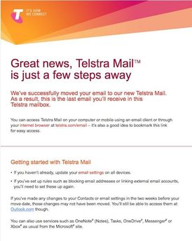 Telstra Mail changes and how they affect Bigpond email accounts