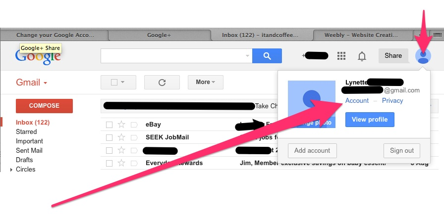 how to change your profile picture on gmail ipad