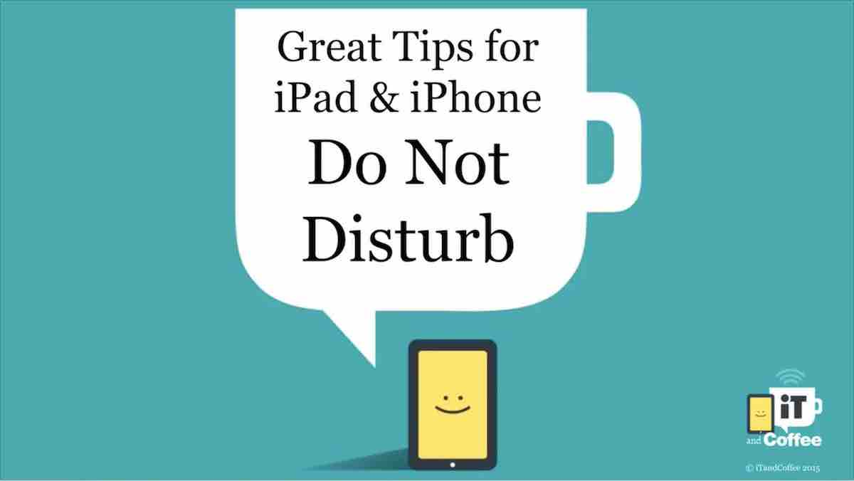 Setting a Do Not Disturb schedule overnight